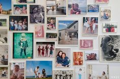 gallery wall - family photos