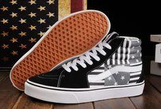 Limited Edition Black Vans American FLag Beckham SK8 Hi Skateboard Shoes  Jordan Shoes For Women 34865778bc98
