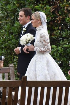 Nicky Hilton Got Her Dress Caught In A Car Wheel And Flashed Everyone At Her Wedding Yesterday - Yahoo News Famous Wedding Dresses, Designer Wedding Dresses, Bridal Dresses, Wedding Gowns, Bridal Gown, Celebrity Wedding Rings, Celebrity Wedding Dresses, Celebrity Weddings, Celebrity Couples