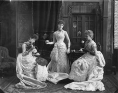 """Faces of the Victorian Era, """"Miss Evans and Friends"""" c. 1887 The McCord Museum"""