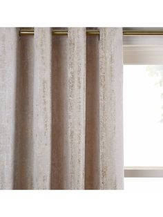 Buy John Lewis & Partners Compton Pair Textured Lined Eyelet Curtains, x Drop from our Ready Made Curtains & Voiles range at John Lewis & Partners. Gold Curtains, Panel Curtains, Curtains Living, Bedroom Curtains, John Lewis, Crushed Velvet Fabric, Curtain Headings, Beige Living Rooms