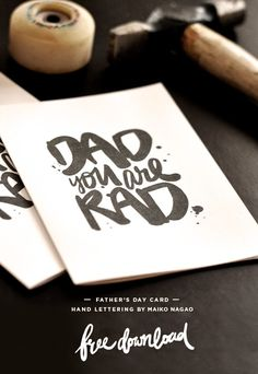 Maiko Nagao: DAD you are RAD Father's day card Published by Maan Ali