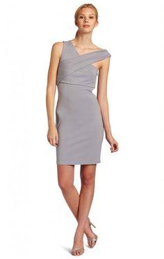 Fashionable Sheath Short Strapless Silver Elastic Woven Satin Dress