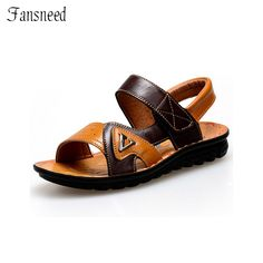 Summer Casual Shoes New Boys Sandals Genuine Leather Upper Fashion Beach Sandals For Kids Shoes size 26 to size 41