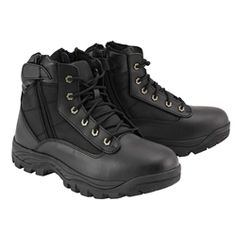 Milwaukee Leather Mens Motorcycle Boot with Laces-MBM9030