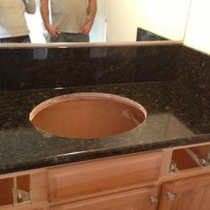 Photo of Louey Kachinsky Construction and Structural Design - San Anselmo, CA, United States. Bathroom remodel.  New granite countertop going in.