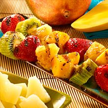 Grilling for dessert? Yes! For a fun, tasty end to your grilled meal, thread pieces of fruit onto skewers, and cook on clean, greased grill grates.