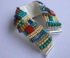 Glasperlenarmbänder - Gesticktes Perlenarmband Barcelona - ein Designerstück von sibea bei DaWanda