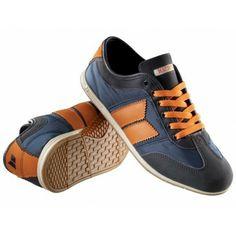 Veganer Sneaker - Brighton Midnight/burnt orange Retro