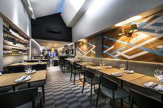 Nolita Trattoria, Claremont by Mata Design Bar Interior, Restaurant Interior Design, Office Interior Design, Interior Design Inspiration, Restaurants, Bar Design Awards, Café Bar, Modern Restaurant, Cafe Design