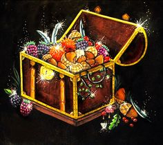 Johanna Basford Enchanted Forest Treasure Chest Coloring Prismacolor