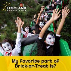 We love Brick-Or-Treat Party Nights! Legoland California, My Favorite Part, Brick, Party, Parties, Bricks