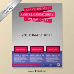Realistic free brochure mock-up  poster