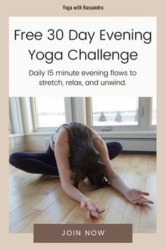 Relax, stretch, and unwind with our free 30 Day Evening Yoga Flow Challenge, and discover what just 15 minutes of gentle yoga a day can do for you. If you want to improve flexibility, lower stress levels, relieve tired, achy muscles, create a soothing self-care evening routine, and improve your sleep this is the challenge for you. Our short evening yoga sequences are perfect for beginners and all levels. Click through to sign up today. Yoga Movement, Yoga For Stress Relief, Online Yoga Classes, Relieve Back Pain, Gentle Yoga, Evening Routine, Yoga For Flexibility, Restorative Yoga, Yoga Sequences