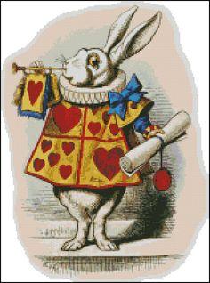 WHITE RABBIT cross stitch pattern No.345. $4.99, via Etsy.