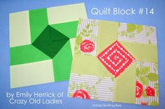 Diary of a Quilter - a quilt blog: Virtual Quilting Bee Block tutorial #14 by Emily Herrick