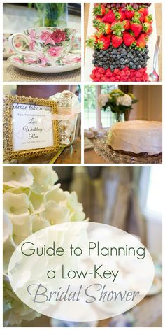 Have a low-maintenance bride? Plan a beautiful, stunning low-key bridal shower with this helpful guide. Includes food, games, activities, flowers, decorations, and much more! Very chill and relaxed but a fun way to celebrate the wedding!