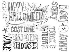 Halloween Doodle Words Royalty Free Stock Photo
