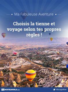 J'ai joué pour gagner Ma Fabuleuse Aventure. Choisis la tienne et gagne le voyage de tes rêves avec Hostelworld ! #EscapeNow