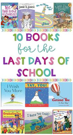 10 Books for the Last Few Days of School – Sweet Sweet Primary 💕 10 Books for the Last Few Days of School These are great read aloud books for the end of the school year. From Kindergarten graduation to third grade, your students will love these The Rainbow Fish, Kindergarten Books, Preschool Books, Montessori Activities, Preschool Activities, Outdoor Portrait, Read Aloud Books, Children's Books, Grade Books