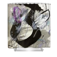 """Lift Off Shower Curtain by Janis Kirstein.  This shower curtain is made from 100% polyester fabric and includes 12 holes at the top of the curtain for simple hanging.  The total dimensions of the shower curtain are 71"""" wide x 74"""" tall."""