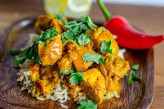 """cup """"lite"""" canned coconut milk 1/2 cup chicken broth (low sodium) 3/4 cup red onion, thinly sliced 1/2 red bell pepper, chopped 1 garlic clove, minced 1 tablespoon fresh ginger, grated Chopped cliantro, for garnish* Spices: 1 tablespoon curry 1/2 tablespoon turmeric 1/2 tablespoon smoked paprika* 1/2 tablespoon cayenne* sea salt and pepper to taste *optional:"""
