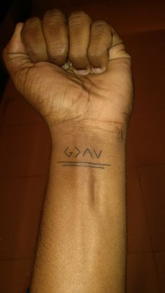 My first tattoo! GOD IS GREATER THAN YOUR HIGHS AND LOWS. #MYFIRSTTATTO #ANDILOVEIT
