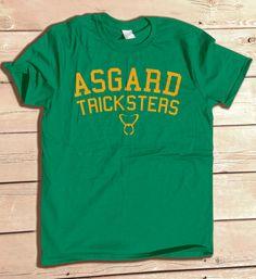 Asgard Tricksters tshirt college athletics football by odysseyroc, $14.95 Loki https://www.etsy.com/listing/168323976/asgard-tricksters-tshirt-college