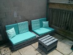 A DIY lounge for my back patio.