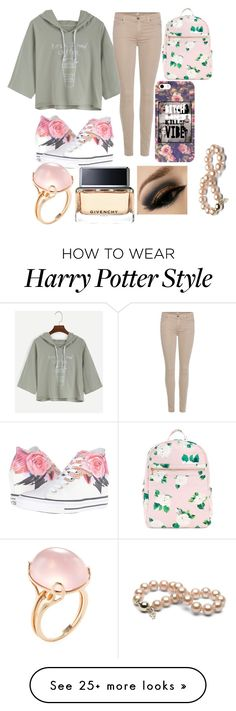 """Thinking is painful"" by lolblingqueen on Polyvore featuring 7 For All Mankind, Converse, Goshwara and Givenchy"