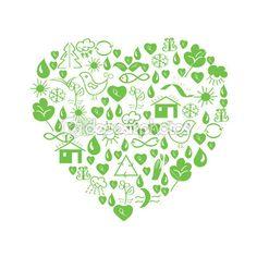 Green environmental heart — Stock Illustration #4327692