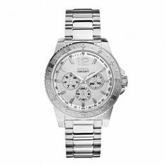 W0241G1 Unisex quartz ρολόι του οίκου GUESS με ατσάλινο μπρασελέ, ημέρα & ημερομηνία. Εγγύηση 2 ετών της επίσημης αντιπροσωπείας της GUESS #Guess #ημερομηνια #ατσαλι #μπρασελε #ρολοι