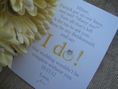 Will You Be My Bridesmaid/Maid Of Honor/Matron by GabrielleKearney, $2.85