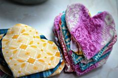 """Little Flannel Hearts that mom and dad can wear close to their hearts and skin then leave with their baby to comfort them with their scent. - You can print this FREE HANDOUT from Hand to Hold """"Bonding with Your Medically-Fragile Baby"""" to go with it. #NICU"""