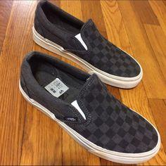 Vans Classic Checkered Overwashed grey/black classic Vans Vans Shoes Sneakers