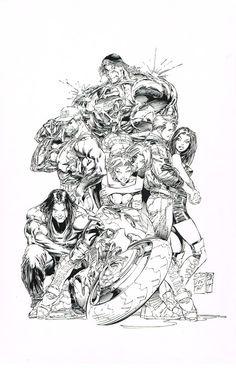 Cyber Force V2 Promo Art by Marc Silvestri for sale