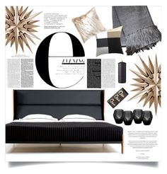 """evening."" by kelle-elizabeth ❤ liked on Polyvore featuring interior, interiors, interior design, home, home decor, interior decorating, De La Espada, Rosanna, CB2 and Eichholtz"