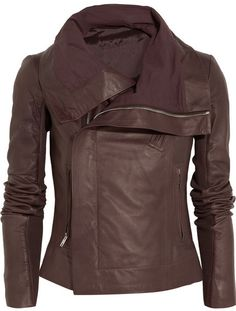 Rick Owens Leather biker jacket on shopstyle.com