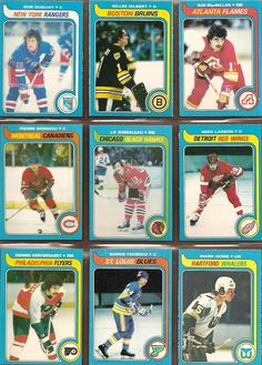208-216 Ron Duguay, Gilles Gilbert, Bob MacMillan, Pierre Mondou, J.P. Bordeleau, Reed Larson, Dennis Ververgaert, Bernie Federko, Mark Howe