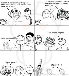 Rage Comics :) Dude! I accidently bummped into