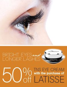 Grow thick, luscious lashes and smooth the lines around your eyes with this perfect product combo! Purchase Latisse at Nuovo Aesthetics and receive 50% off Skin Medica's TNS Eye Repair. (312) 496-3069  #latisse #skinmedica #eyelashes #antiaging #tnseyerepair #esthetics #beauty #skincare