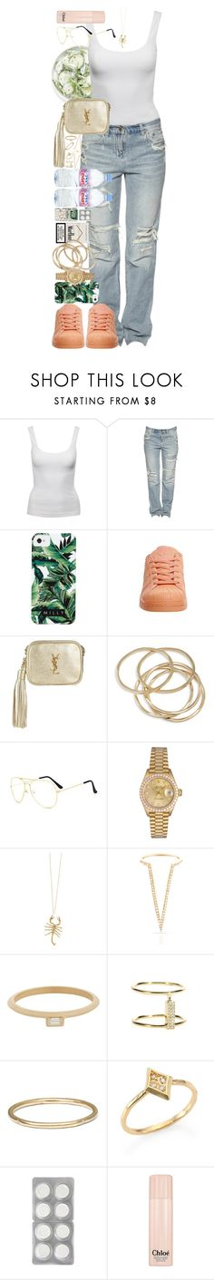 """""""I'll try anything once, twice if I like it, three times to make sure."""" by quiche ❤ liked on Polyvore featuring Jane Norman, Milly, adidas, Yves Saint Laurent, ABS by Allen Schwartz, Rolex, Jennifer Fisher, Evian, Smith+Mara and Monique Péan"""