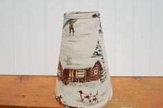 Cottage or Ski Chalet Lampshade by auntbeasvintage on Etsy, $39.00