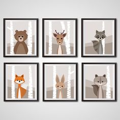 Woodland Nursery digital print boy room by TheWobblyWorkbench