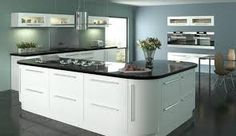 Image result for white gloss kitchen island unit