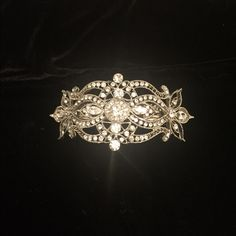 Beautiful Rhinestone Barrett! In new condition!   Great for proms or weddings!   Very heavy. Accessories Hair Accessories