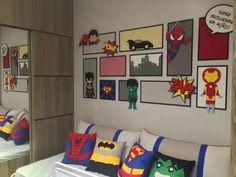 Boys Superhero Bedroom, Kids Bedroom, Baby Moses, Avengers Birthday, New Room, Mj, Baby Room, Sweet Home, New Homes