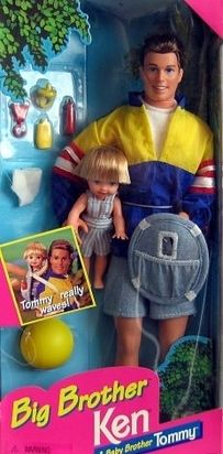 Ken and Tommy! I had this EXACT pair (they came out in 1997 and I got them for my 6th birthday that year)...and it wasn't long before I took scissors to their hair because I thought it was ugly!