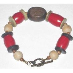 Red, Brown, Beige and Khaki Men's Bracelet