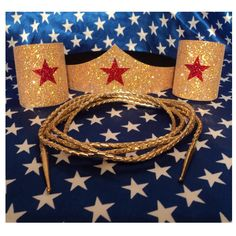 New  Wonder Woman Costume Accessories Set Tiara  by CapeandCloak, $5.95